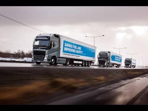 トラック集団自動運転、ボルボも欧米で相次ぎ実験中