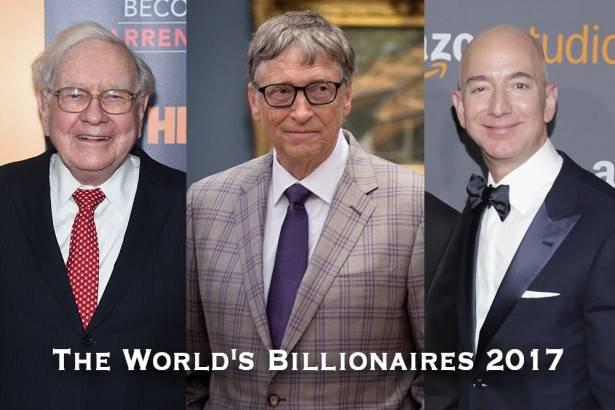 世界長者番付2017、ビリオネア数は史上最多に   F...