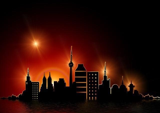 Free illustration: Gold, Golden, Skyline, Skyscraper - Free Image on Pixabay - 65821 (610)