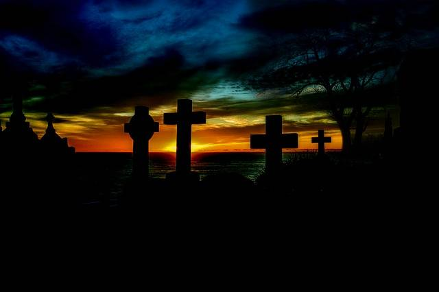 Free illustration: Sunrise, Cemetery, Cross, Graves - Free Image on Pixabay - 426085 (3124)