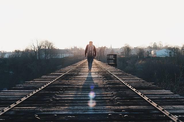 Free photo: Train Tracks, Walking, Journey - Free Image on Pixabay - 1081672 (5603)