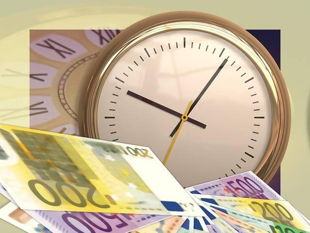 Free illustration: Clock, Time, Euro, Money, Currency - Free Image on Pixabay - 77497 (11349)