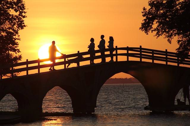Free photo: Sunset, Park, Bridge, People - Free Image on Pixabay - 1759716 (15590)