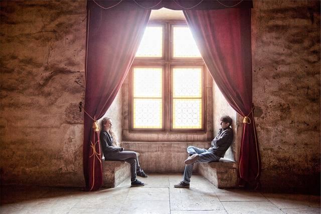 Free photo: Guy, Girl, People, Sitting, Talking - Free Image on Pixabay - 698784 (16883)