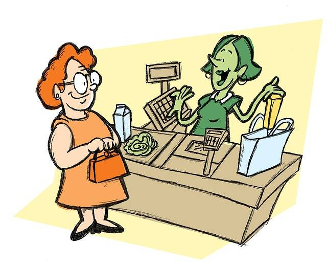 Free illustration: Cashier, Groceries, Supermarket - Free Image on Pixabay - 1791106 (21210)