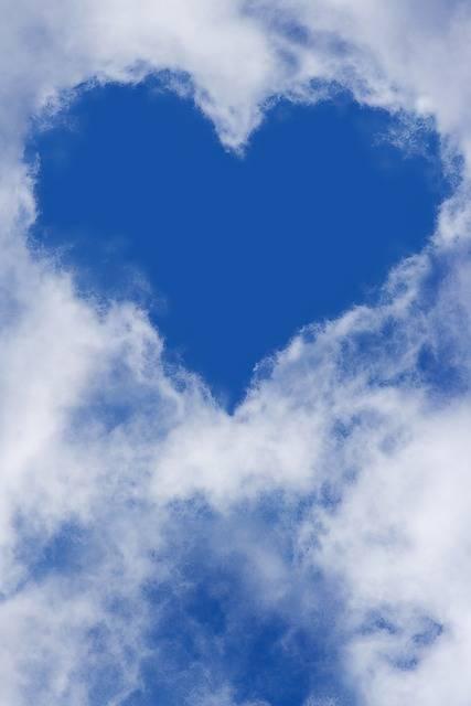 Free photo: Heart, Sky, Clouds, Blue Sky - Free Image on Pixabay - 1213475 (26078)