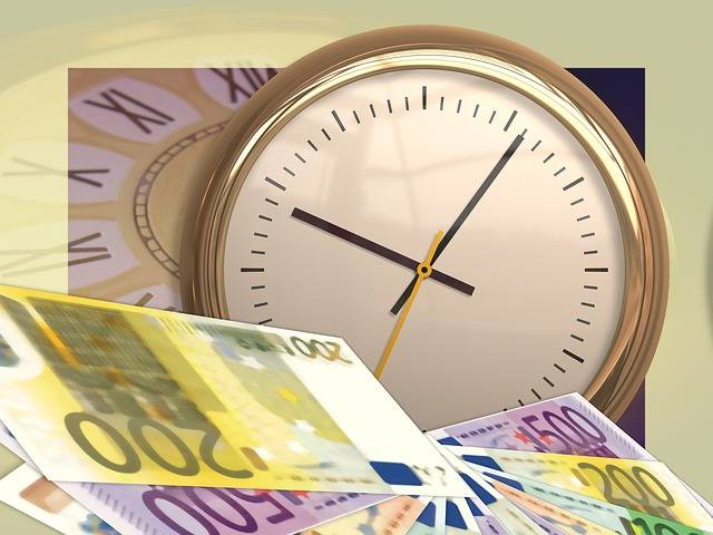 Free illustration: Clock, Time, Euro, Money, Currency - Free Image on Pixabay - 77497 (26340)