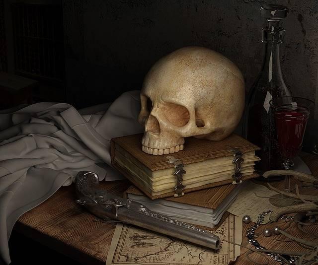 Free photo: Skull, Dark, Map, Book, Gun - Free Image on Pixabay - 1193784 (38597)