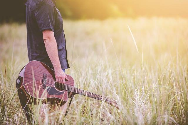 Free photo: Countryside, Field, Grass, Guitar - Free Image on Pixabay - 1851309 (43063)