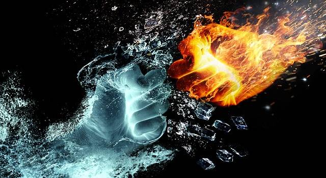 Free illustration: Fire And Water, Hand, Fire, Heat - Free Image on Pixabay - 2354583 (45217)