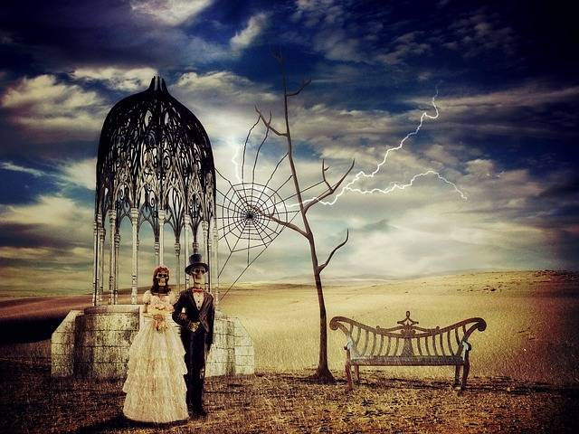 Free photo: Bride And Groom, Creepy, Skeleton - Free Image on Pixabay - 2698249 (57566)