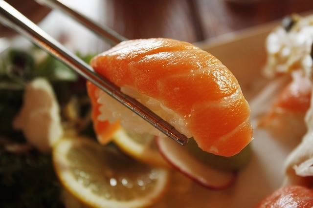 Free photo: Salmon, Sushi, Dining Room - Free Image on Pixabay - 1353598 (67660)
