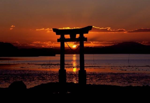 Free photo: Sunset, Shrine, Sea, Sky - Free Image on Pixabay - 129503 (71104)