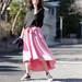 お洒落女子の春夏コーデは「フレアスカート×コンバース」がトレンド♪GU・ユニクロもスカートが大人気♪
