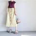 品良くカジュアルに着まわせる♪GUのワッフルスリーブレスTで作る女性らしいお洒落コーディネート♪