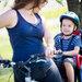 自転車のチャイルドシートが熱くて座れない!100均グッズでできる対策