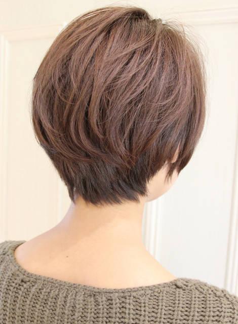 【ショートヘア】黒髪でも可愛い大人耳かけスタイル/Reunaの髪型・ヘアスタイル・ヘアカタログ|2017秋冬 (177)