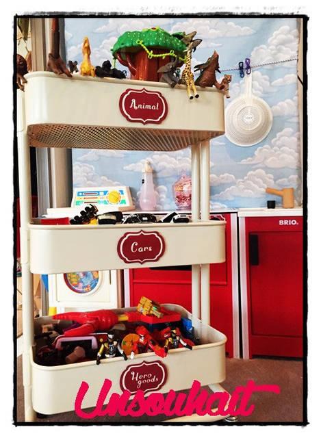 IKEAのキッチンワゴン「RÅSKOG」でおもちゃスッキリ☆