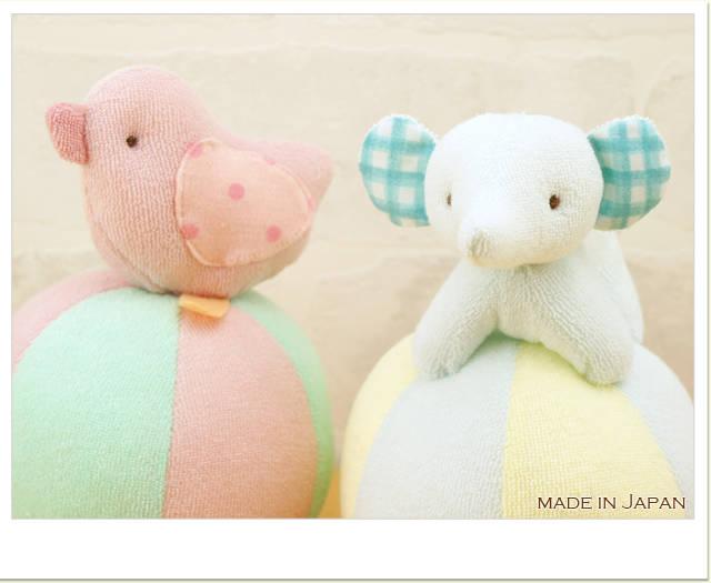 ベビー布おもちゃ☆ベビーアニマルやわらかおきあがりこぼし|プライマリー (2373)