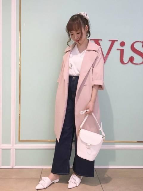 ガウンコートです♡淡いピンクが可愛いです