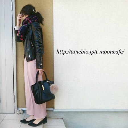 【今日のコーデ】GUコーデ♡ピンクのワイドパンツにライ...