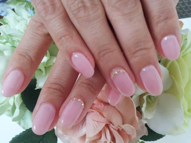 ピンクのワンカラー。