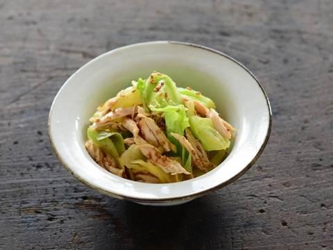 春キャベツと鶏ささみのごましょうゆ和え | Happy Recipe(ヤマサ醤油のレシピサイト) (4162)