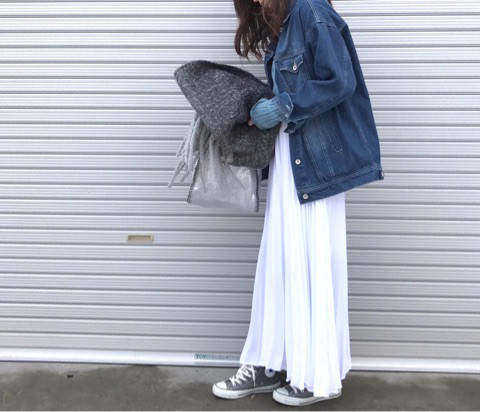 大好きなプリーツスカートにスニーカー♡|♡ママになってもオシャレしたい!れみママブログ♡ (4627)