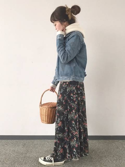 花柄スカート♡
