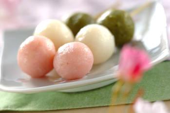 お花見団子【E・レシピ】料理のプロが作る簡単レシピ/2005.04.04公開のレシピです。 (4770)