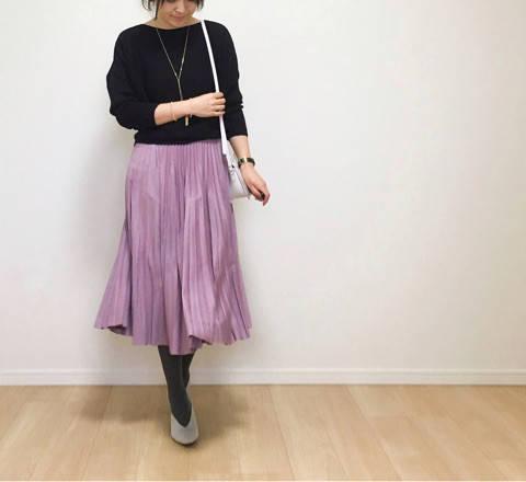 お気に入りのカラースカートでhilomicちゃんとランチ♪|35歳ママのプチプラを品良く着こなしたいファッションブログ (5441)