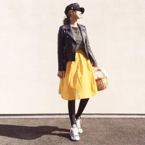 ♥コーデ♥イエロースカートのカジュアルコーデ♪