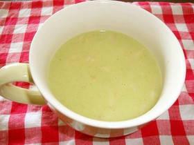 ブロッコリーの茎も葉もすべて入った栄養満点スープ♪