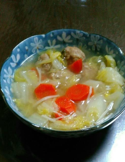 圧力鍋で超簡単。鶏肉団子と野菜のスープ