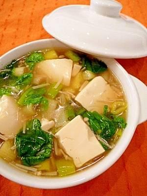 とろとろ豆腐の★熱々!中華スープ
