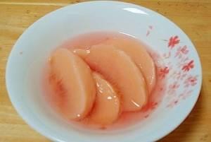 桃のシロップ漬け