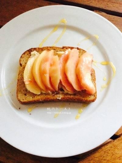桃のトースト