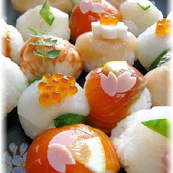 コロンと可愛い〜♪おもてなしのてまり寿司☆