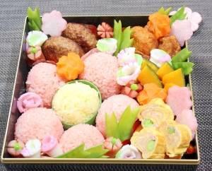 デコふりでとっても簡単に彩りの綺麗なお弁当♪おかずも花...
