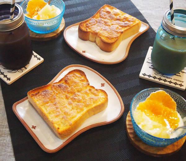 厚切りパンで、メロンパントーストを作ってみました!|大好き ストウブ&ル・クルーゼ (7067)