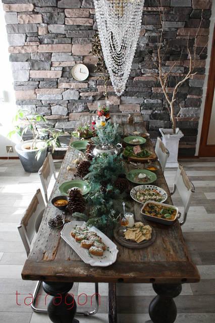 倒れるほど素敵すぎるフォトジェニックなクリスマスパーティー♡|タラゴンの挿し木 *ふだんの食材でおもてなし* (7253)