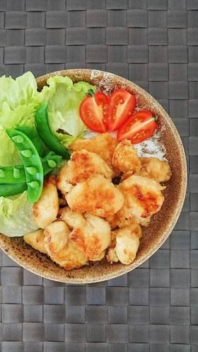 簡単節約☆鶏胸肉の揚げない麺つゆ唐揚げ。