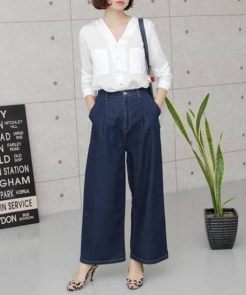 【GISELe11月号掲載】【GISELe6月号掲載】【大人気】【デニムパンツランキング1位獲得】ハイウエストコットン デニムワイドパンツ(デニムパンツ)|select MOCA(セレクトモカ)のファッション通販 - ZOZOTOWN (9313)