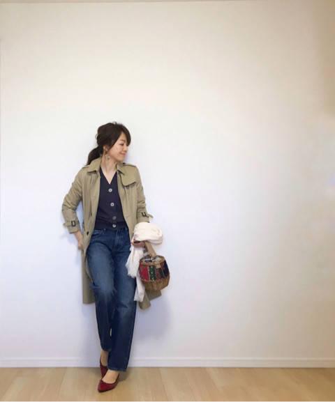 一目惚れのカゴバッグで展示会へ。|35歳ママのプチプラを品良く着こなしたいファッションブログ (9333)