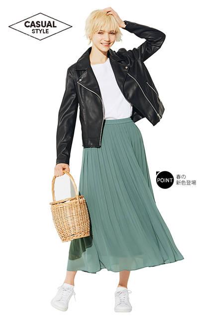 ユニクロ|ハイウエストシフォンプリーツスカート|WOMEN(レディース)|公式オンラインストア(通販サイト) (12186)