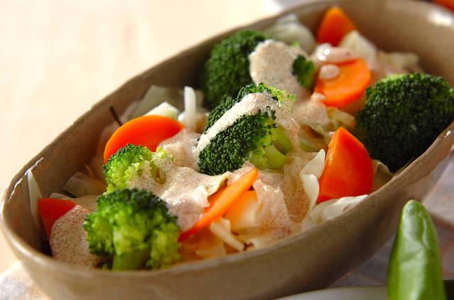 体を冷やしにくい温野菜サラダ