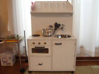 【gooブログ】カラーボックスで手作りままごとキッチン完成!