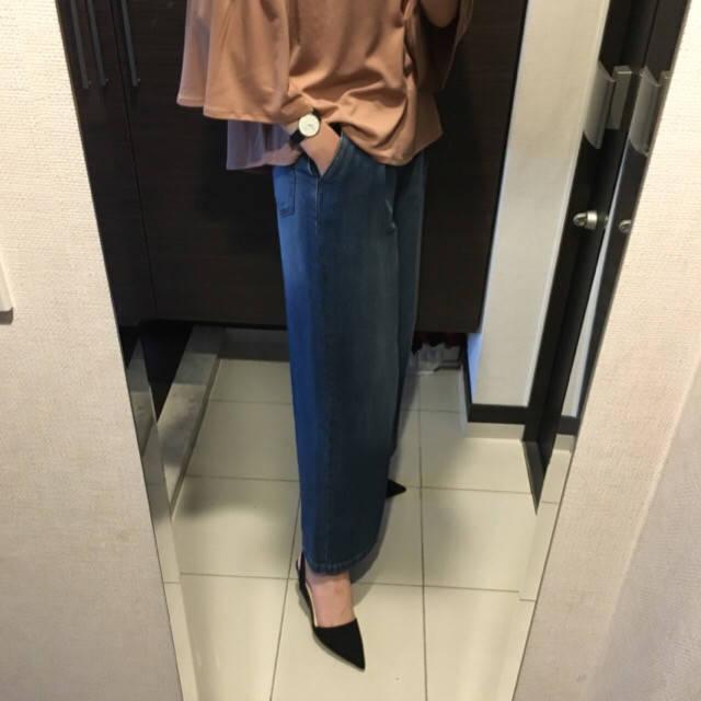 今日のコーデ☆☆GUトップス&GUバギージーンズ☆|LaLa's~プチプラコーデ日記~ (23221)