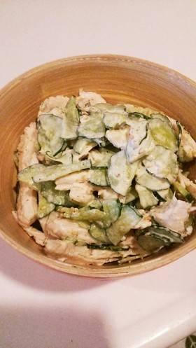 鶏胸肉ときゅうりのすりごまサラダ by maiky [クックパッド] 簡単おいしいみんなのレシピが265万品 (25099)