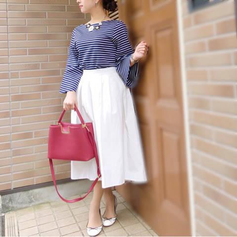 【上下GU】モリ袖×ステップドヘムフレアスカート